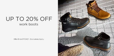 Up to 20% Off Work Boots