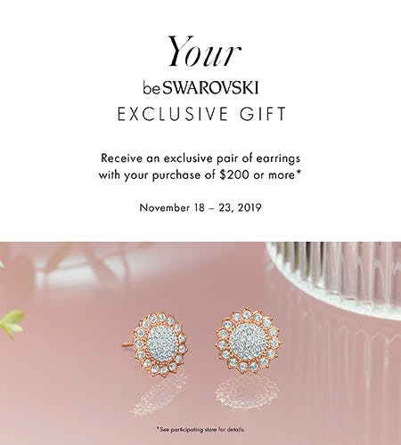 Special BeSwarovski Gift with Purchase from Swarovski