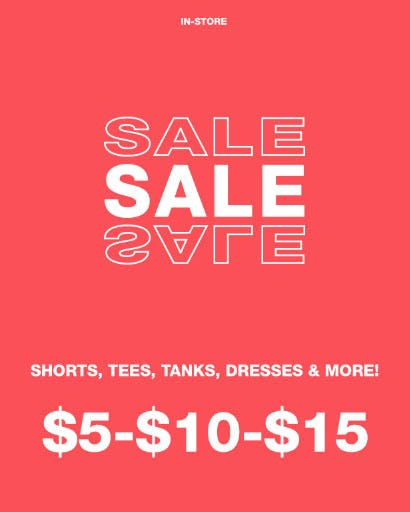 $5-$10-$15 Sale from Garage