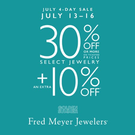 July 4 Day Sale from Fred Meyer Jewelers