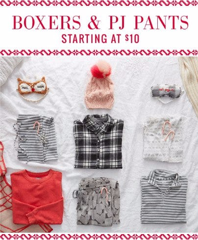 Boxers & PJ Pants Starting at $10