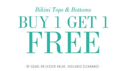 Bikini Tops & Bottoms Buy 1, Get 1 Free