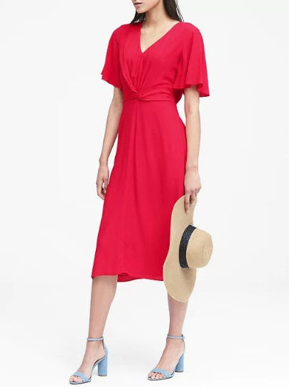 Twist-Front Tea Dress