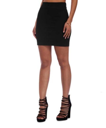 Black Bring Me Back Mini Skirt