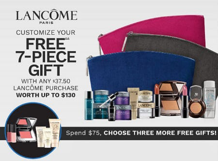 Free Gift with $37.50 Lancôme Purchase