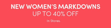 Up to 40% Off New Women's Markdowns from Athleta