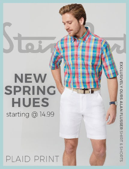 Men's New Spring Hues from Stein Mart