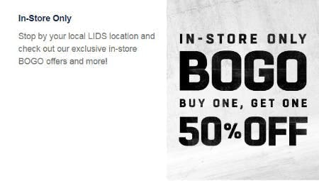 BOGO 50% Off Select Items