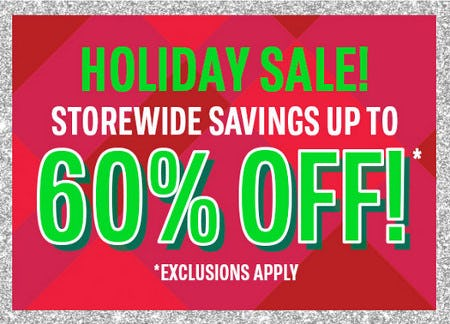 Storewide Savings Up to 60% Off