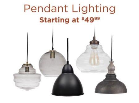 Pendant Lighting Starting at $49.99