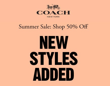 Summer Sale from Coach
