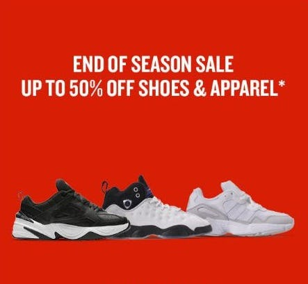 End of Season Sale: Up to 50% Off