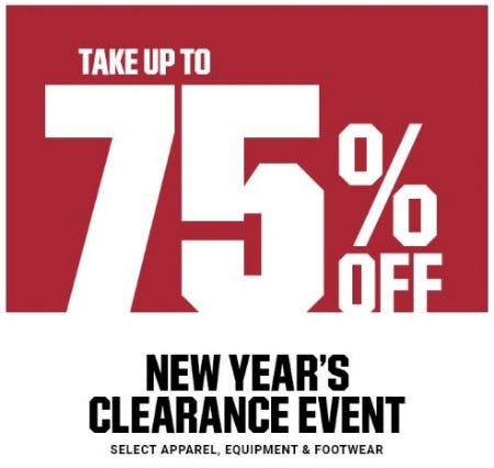 New Year's Clearance Event: Up to 75% Off from Dick's Sporting Goods