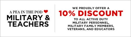 10% Discount on Military & Teachers from A Pea In The Pod