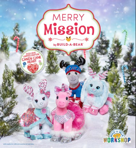 Join the Merry Mission at Build-A-Bear Workshop!