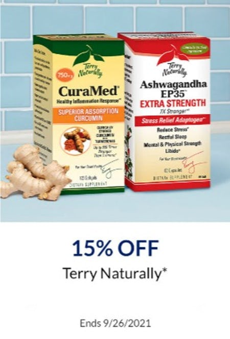 15% Off Terry Naturally
