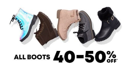 All Boots 40-50% Off