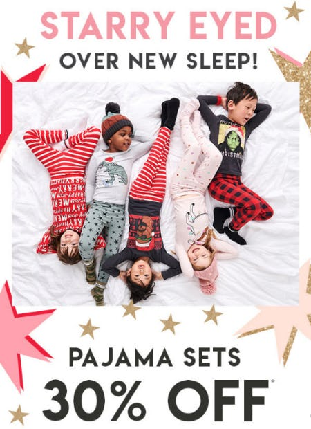 30% Off Pajama Sets from Cotton On Kids