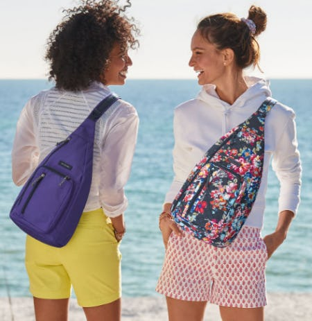 The Lighten Up Sling Backpack from Vera Bradley