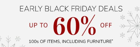Early Black Friday Deals: Up to 60% Off