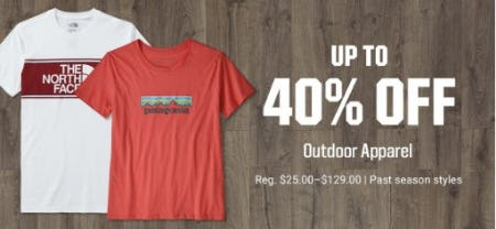 Up to 40% Off Outdoor Apparel from Dick's Sporting Goods