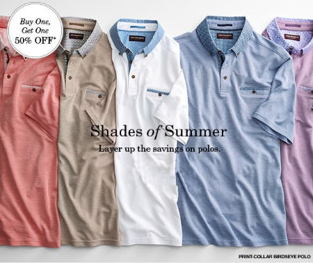 BOGO 50% Off Polos from JOHNSTON & MURPHY