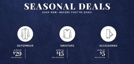 Seasonal Deals from Jos. A. Bank