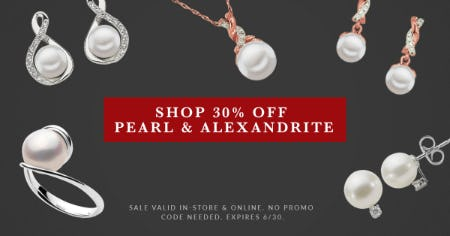 30% Off: June Pearl Birthstone Sale