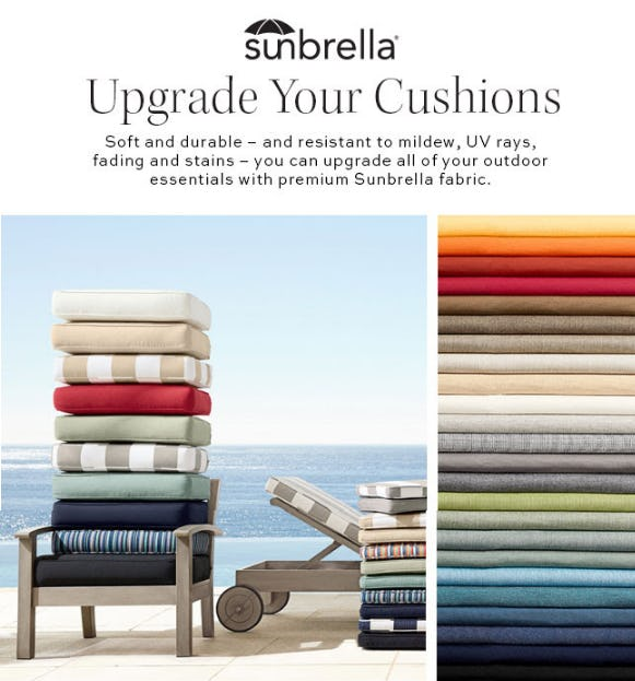 Upgrade Your Cushions from Pottery Barn