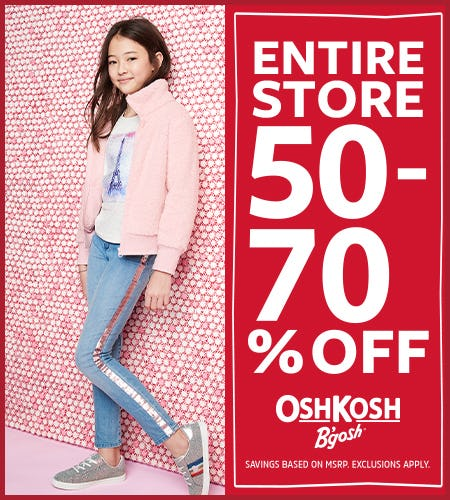All Fall & Holiday 50-70% Off from Oshkosh B'gosh