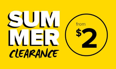 Summer Clearance From $2