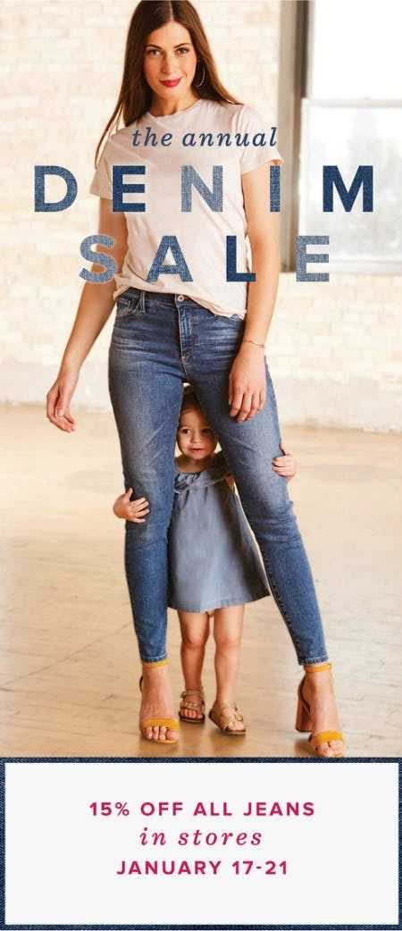 15% Off All Jeans