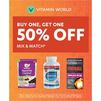 Buy One, Get One 50% OFF mix & match‡ from Vitamin World