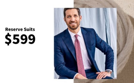 Reserve Suits $599 from Jos. A. Bank