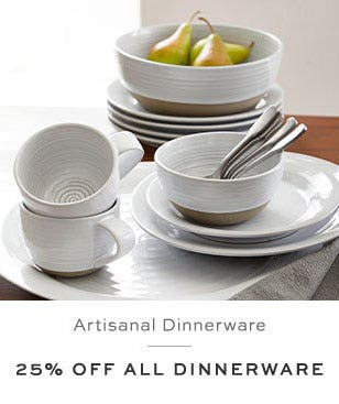 25% Off All Dinnerware from Pottery Barn