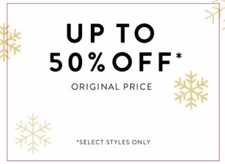 Up to 50% Off Original Price