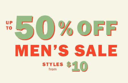 Up to 50% Off Men's Sale from Old Navy