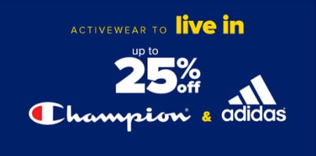 Up to 25% Off Champion & Adidas Activewear