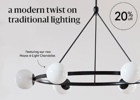 20% Off Lighting from West Elm