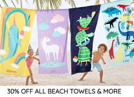 30% Off All Beach Towels & More from Pottery Barn Kids