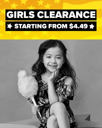 Girls Clearance Starting from $4.49 from Rainbow
