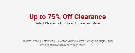 Up to 75% Off Clearance from Dick's Sporting Goods