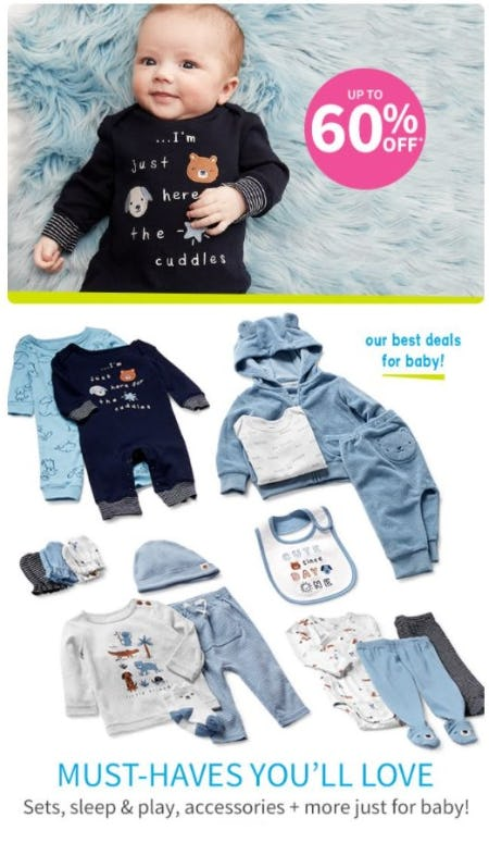 Up to 60% Off Sets, Sleep and Play, Accessories and More for Baby from Carter's