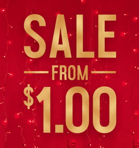 Sale from $1.00