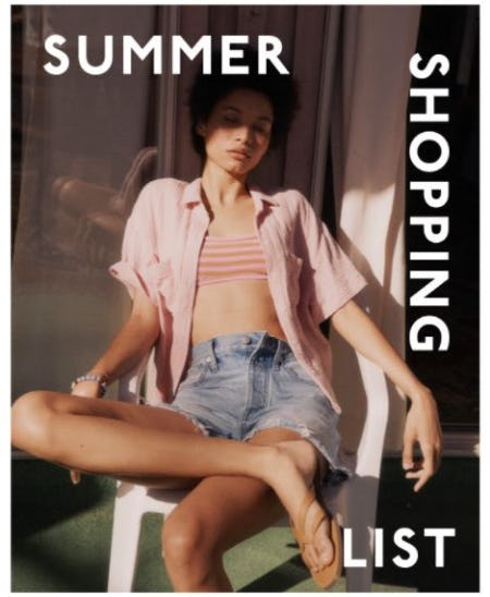 Your Summer Shopping List from Madewell