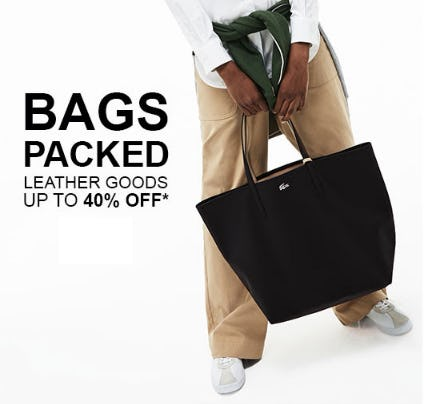 Up to 40% Off Leather Goods from Lacoste