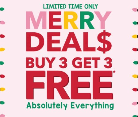 Buy 3, Get 3 Free Absolutely Everything from Claire's