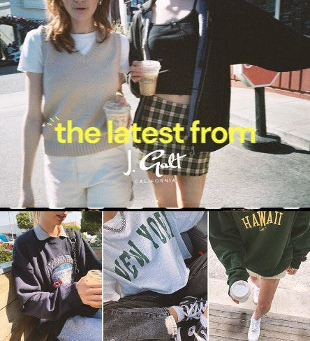 New + Back-In-Stock J. Galt Arrivals from PacSun