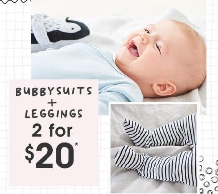 2 for $20 Bubbysuits & Leggings from Cotton On