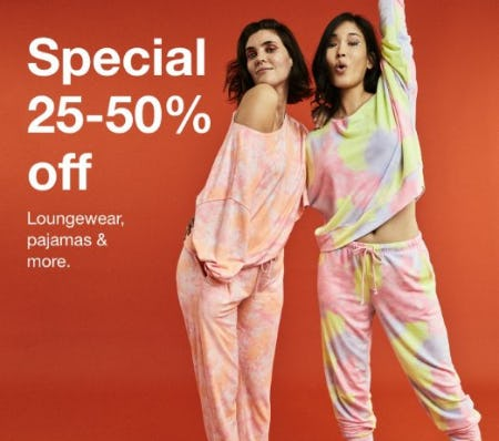 25-50% Off Loungewear, Pajamas & More